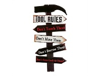 Briscoes NZ Tool Rules Iron Wall Plaque 25x50cm
