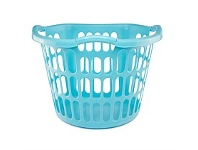 Briscoes NZ Plastique Hip Hugger Laundry Basket Aqua 40L