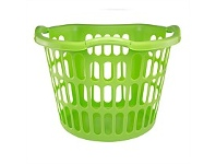 Briscoes NZ Plastique Hip Hugger Laundry Basket Lime 40L