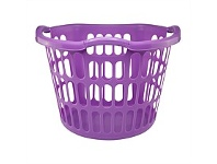Briscoes NZ Plastique Hip Hugger Laundry Basket Mauve 40L