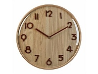 Briscoes NZ Embossed Wall Clock Rosewood 32cm