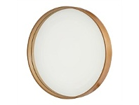 Briscoes NZ Round Wall Mirror Rosewood 35cm