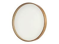 Briscoes NZ Round Wall Mirror Rosewood 53cm