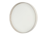Briscoes NZ Round Wall Mirror White Pine 53cm