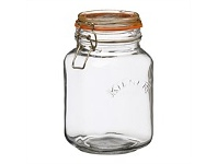 Briscoes NZ Kilner Square Clip Top Jar 1.5ltr