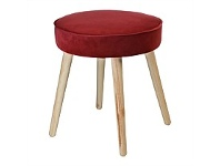 Briscoes NZ Koopman Soft Touch Stool Red Round