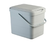 Briscoes NZ Mazzei Wall Bin Lt Grey 8 Litre