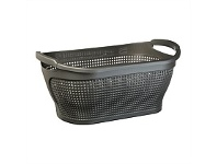Briscoes NZ Tontarelli Ingrid Laundry basket Graphite 35 Litre