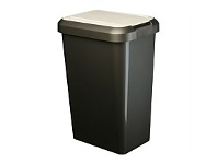 Briscoes NZ Tontarelli Tilt & Lift Refuse Bin Graphite 25 Litre