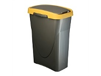 Briscoes NZ Mazzei Eco Swing Refuse Bin Yellow 25 Litre