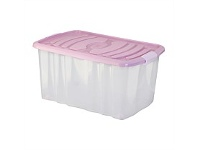 Briscoes NZ Mazzei Storage Box Pink 45 Litre