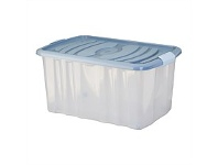 Briscoes NZ Mazzei Storage Box Blue 45 Litre