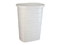Briscoes NZ Mazzei Signature Laundry Hamper Whitete 50 Litre