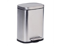 Briscoes NZ Homestyle Refuse Bin Stainless Steel 5L