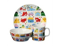 Briscoes NZ Volere My First Dinnerware Urban Animals 3pc