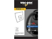 Briscoes NZ 5 Vacpac P5830/Y101 microply vacuum cleaner bags and 2 filters