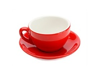 Briscoes NZ Maxwell & Williams Cafe Culture Red Cappuccino Cup & Saucer