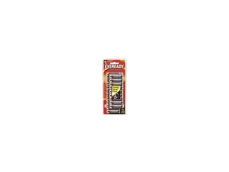 Eveready Super Heavy Duty AA 20 Pack