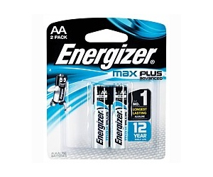 Energizer Max Plus AA 2 Pack