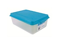 Briscoes NZ Clear Storage Container with Blue Lid - 10L