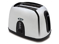 Briscoes NZ Zip 441 Polished Finish Stainless Steel 2 Slice Toaster