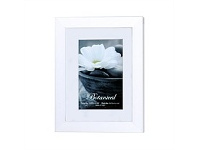 Briscoes NZ UR1 Botanical Photo Frame White 6x8 with 4x6 Opening