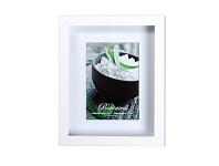 Briscoes NZ UR1 Botanical 8x10 White with 5x7 Opening Photo Frame