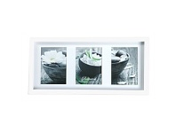 Briscoes NZ UR1 Botanical Photo Frame White 19.75x9 with 3 5x7 Openings