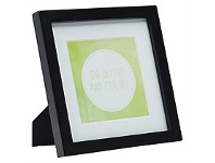 Briscoes NZ UR1 Gallery Photo Frame Black 7x7 with 5x5 Opening