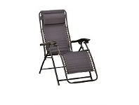 Briscoes NZ Outdoor Creations Deluxe Zero Gravity Padded Steel Chair
