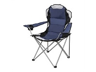 Briscoes NZ Outdoor Creations Deluxe Camping Chair Blue Grey Color