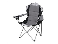 Briscoes NZ Deluxe Camping Chair Light Grey Color