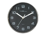 Briscoes NZ The Time Company Clock Parker Silver & Black 20cm