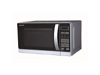 Briscoes NZ Sharp R60A0S Microwave Oven and Grill Silver