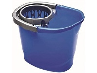 Briscoes NZ Raven Wring A Mop Bucket Blue 13Litre