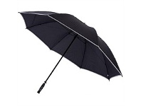 Briscoes NZ Hurricane Vented Golf Umbrella Black With Reflective Piping