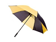 Briscoes NZ Hurricane Vented Golf Umbrella Yellow & Black