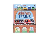 Briscoes NZ Usborne Make a Picture Sticker Book Trains