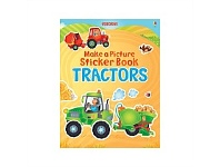 Briscoes NZ Usborne Make a Picture Sticker Book Tractors