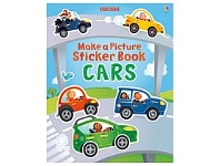 Briscoes NZ Usborne Make a Picture Sticker Book Cars