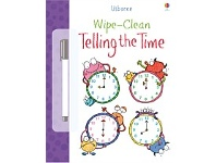 Briscoes NZ Usborne Wipe Clean Telling The Time Book