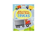 Briscoes NZ Usborne Make a Picture Sticker Book Trucks