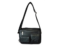Briscoes NZ Gionni Multi Compartment Black Shoulder Bag