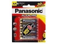 Briscoes NZ Panasonic LR6T/8B Battery AA 8 Pack