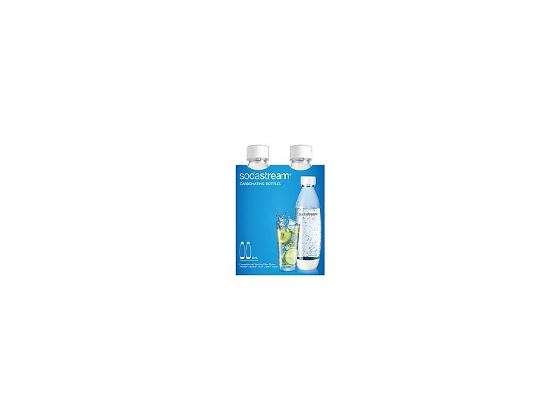 Soda Stream 1Lt Fuse Twin Pack White Carb Bottle