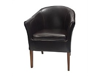 Briscoes NZ Verona Lounge Chair Split Coated Leather Brown