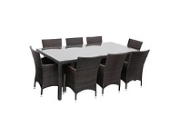 Briscoes NZ Amalfi Promenade Wicker 9 Piece Outdoor Furniture Setting