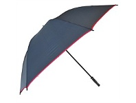 Briscoes NZ Peros Hurricane Highlights Vented Umbrella Black & Red