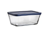 Briscoes NZ Anchor Hocking Heat Resistant Dish With Blue Lid 1.1L