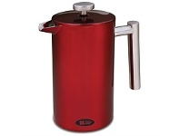 Briscoes NZ Zip Stainless Steel Coffee Plunger 1L Red